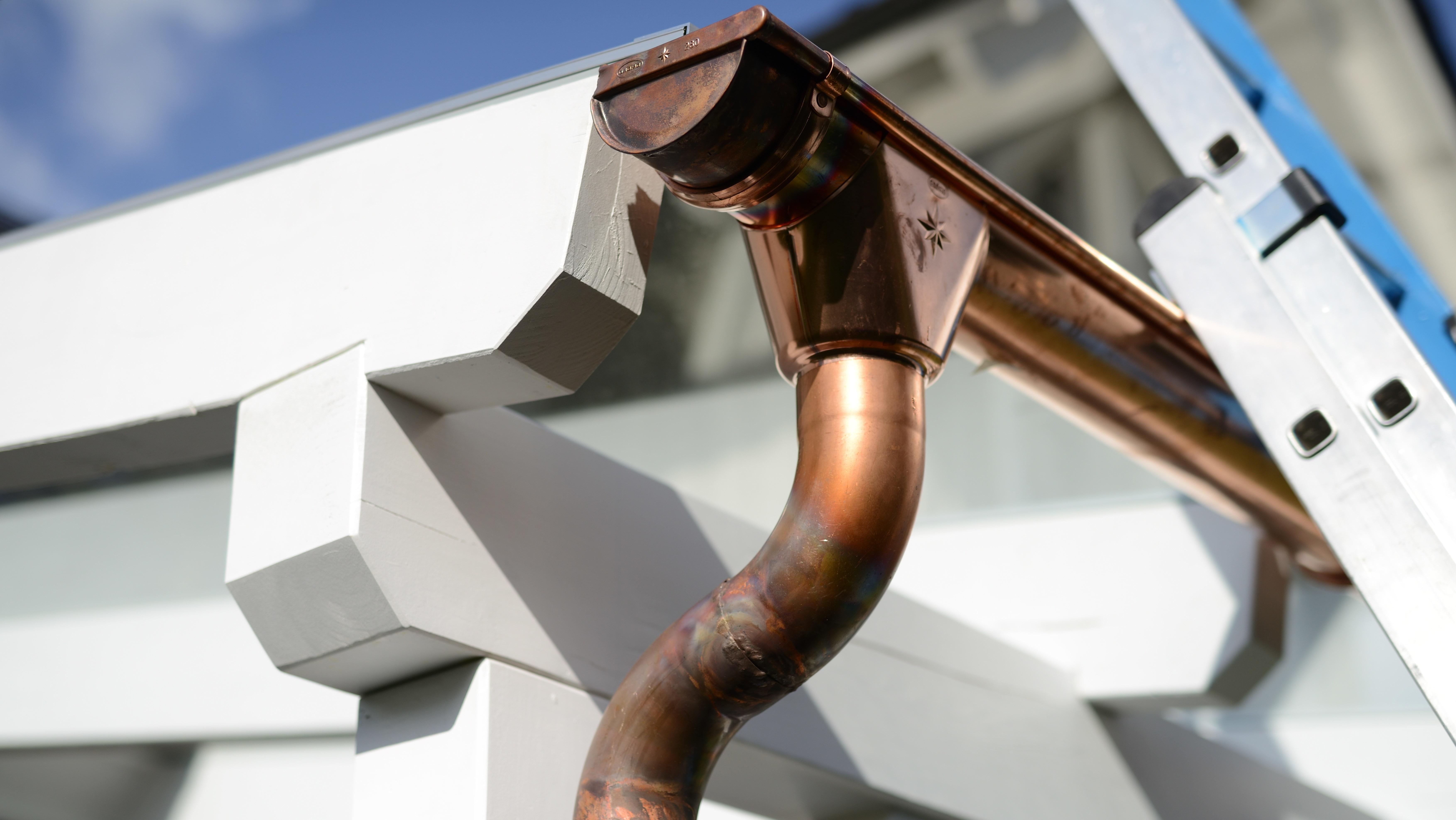 Seamless Copper Gutters